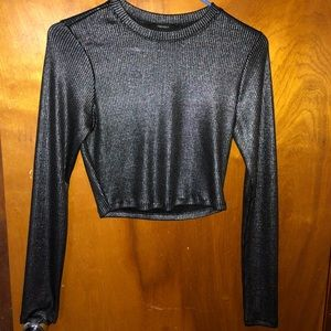 Gently used long sleeved crop top